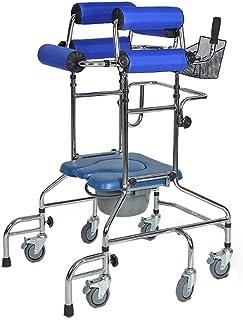 SONGYU Aide à la mobilité à Pied Rollator Walker avec Chaise d'appoint pour la Formation de rééducation des Membres inféri...