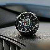 Compatible avec Alfa Romeo Giulia Giulietta 159 156 Mito Stelvio 147 Sportiva Tableau de bord Horloge Air Clip Intérieur de voiture Accessoires de voiture