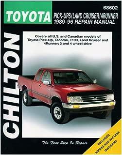 Chilton Repair Manual 68602 for Toyota Trucks/Land Cruiser/4Runner 1989-1996