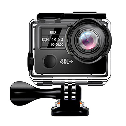 GEEKLIN Action Camera, 4K WIFI Sports Action Camera Ultra HD EIS 30m Waterproof DV Camcorder 14MP 170 Degree Wide Angle
