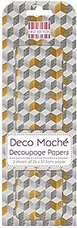 First Edition Deco Mache Papier FSC–Gris Blocs, Papier, Multi Couleur