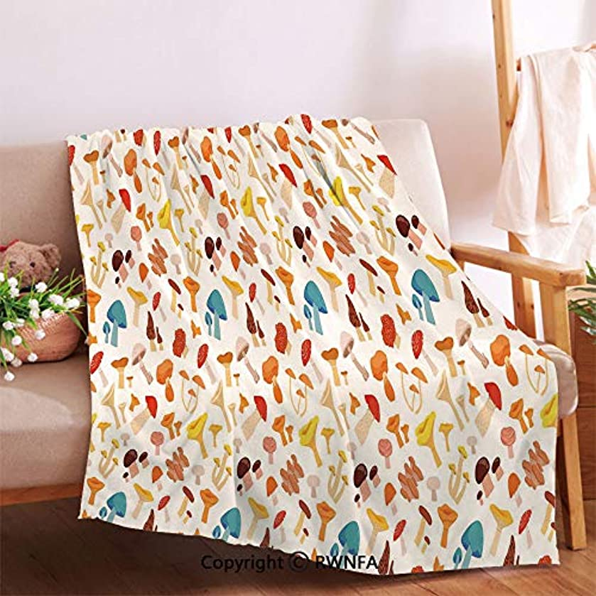 AngelSept Colorful Cartoon Forest Toadstool Pattern Childish Kids Autumnal Nature Fungus Throw Blanket for Couch.Anti-Wrinkle Function, Suitable for Living Room Sofa(59