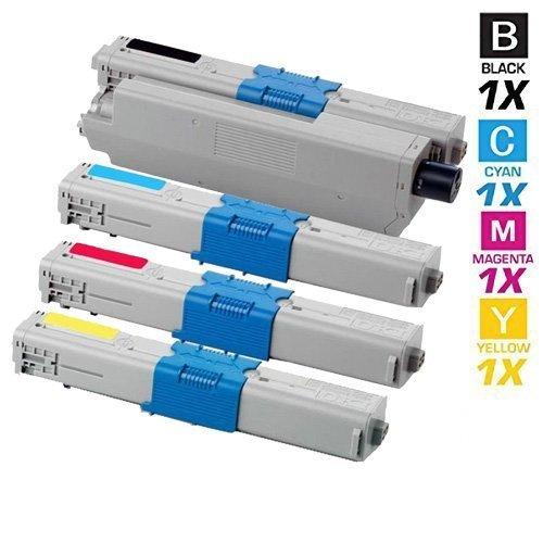 4 Schneider Printware Toner mit 50% mehr DRUCKLEISTUNG nach (ISO-Norm 19798) ersetzen Oki C310dn C330dn C331dn C510 C511dn C531dn C530dn MC352 MC351 MC352 MC361 MC362 MC561 MC562,