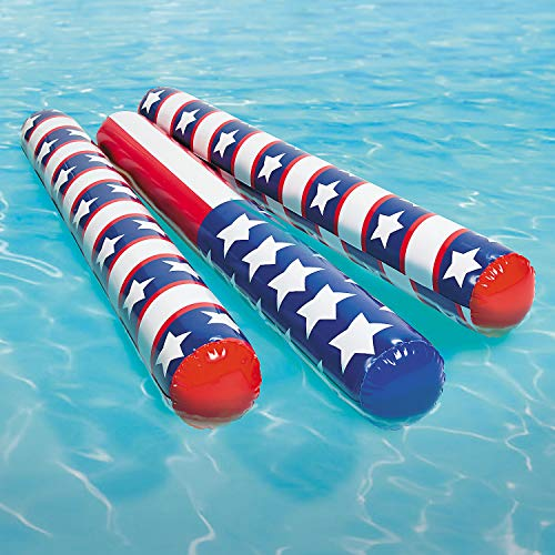 INFLATABLE PATRIOTIC POOL FLOODLES (6PC) - Toys - 6 Pieces