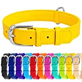 WAUDOG Soft Leather Dog Collar - Dog Collars for Small...