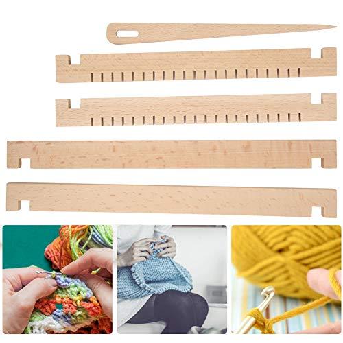Fabater Webstühle, traditionelle abnehmbare Strickwebstühle, DIY Strickzubehör aus Holz Lernspielzeug für Anfängerkinder