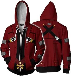 Blazblue Sweatshirts Men's Ragna The Bloodedge Zip Up Hoodies Jacket
