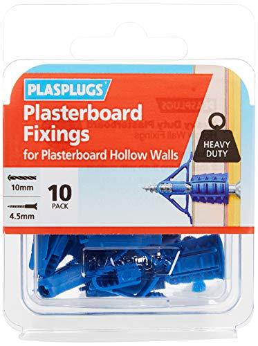 Plasplugs HCF110 Lot de 10 vis de fixation pour plaque de plâtre