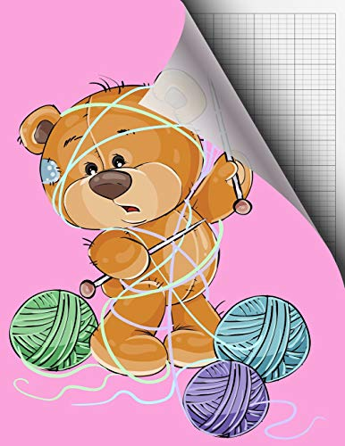 Knitting Design Graph 2:3 Paper; 2 Stitches Measures 3 Rows for Oversized Yarn, Thick Wool or Knitting Double