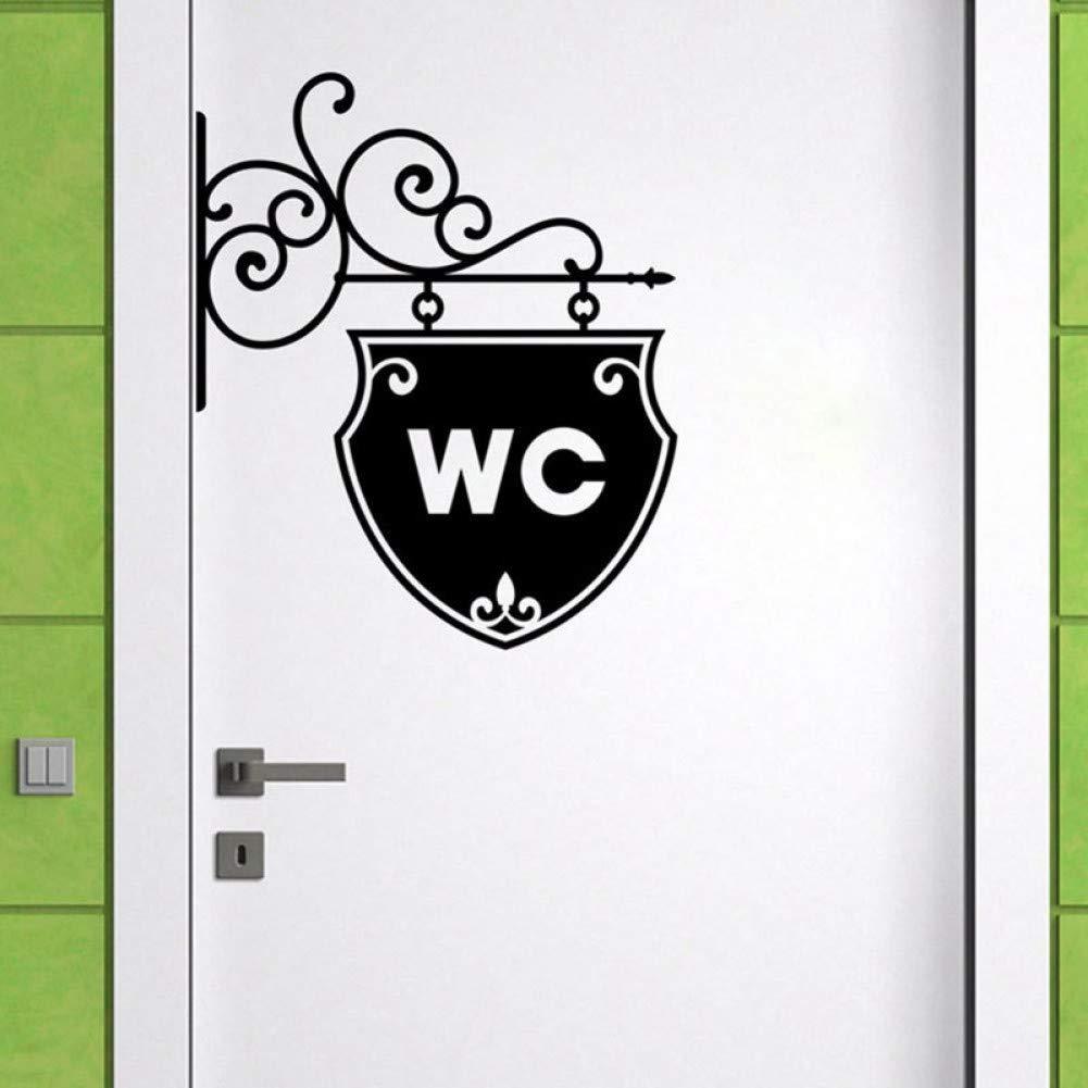 VIOYO Vintage WC Toilette Badezimmer Tür Wandaufkleber Türschild