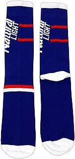 H3 Sportsgear Natural Light Vertical Logo Blue Crew Socks