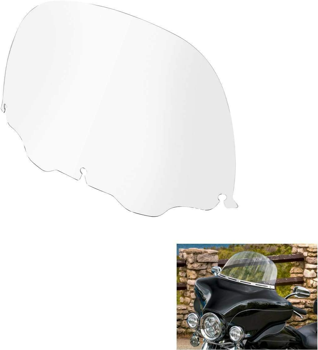 TCMT 12 Clear Windshield Windscreen Fit For Harley Davidson Touring Electra Glide Street Glide Ultra Classic Trike Models 93-13