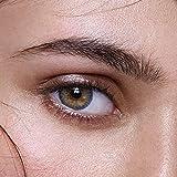 Anesthesia -'Addict Series' Lentillas Mensuales De Color 100% Naturales Sin Fuerza (Altamente Cubriendo) - Color De Alta Calidad Lentes De Contacto Sin Fuerza Visual -1 par (Lolite (Gris/Marrón))
