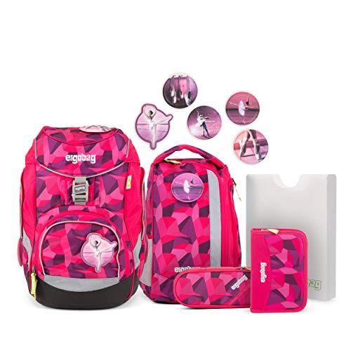 Ergobag Pack Prima Bärllerina, ergonomischer Schulrucksack, Set 6-teilig, 20 Liter, 1.100 g, Pink