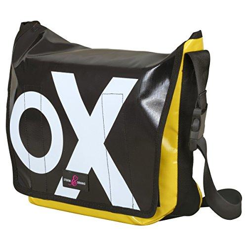 Sturm & Drang - Maxi borsa messenger bag in tela cerata - Borsa a tracolla