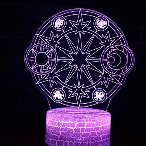TYWFIOAV Magic array 3D colorful night desktop party atmosphere remote control living room bedside lamp