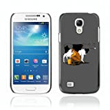 CelebrityCase Polycarbonate Hard Back Case Cover for Samsung Galaxy S4 MINI ( Cool Cow & Milk Illustration )