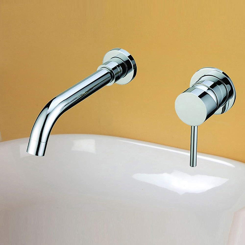AXWT Schwarzes Waschbecken Hotel Wasserhahn Warmes und kaltes Wasser Badezimmer Grünckte In-Wand auf der Bühne Waschbecken Kaiping Wasserhahn Hotel Clubhouse Dedicated (Farbe   Chrome)