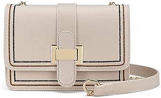 Cxhsz New Wild Messenger Single Shoulder Handbag Casual Fashion (Color : White)