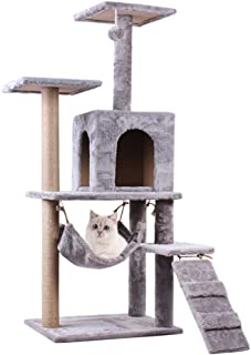 Cat Activity Trees Stand, Cat Play Tower Activity Centre, Multi-Level Cat Condo with Scratching Posts, Kitty Pet Play Hous...