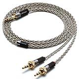 GUCraftsman 6N Single Crystal Silver Upgrade Headphones Cable 4Pin XLR/2.5mm/4.4mm Balance Headphone Upgrade Cable for Sony MDR-Z7 MDR-Z7M2 MDR-Z1R (4.4mm Plug)
