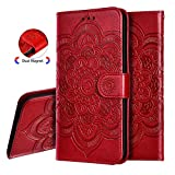 IMEIKONST Flip Wallet Case for Xiaomi Redmi 6A Mandala
