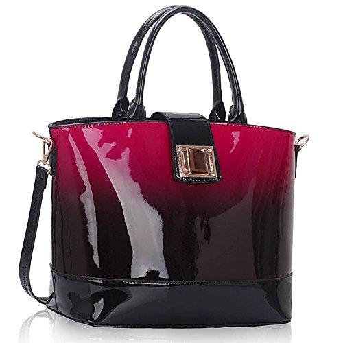 Trendstar Damen Handtaschen Der Frauen Große Taschen Schulterlackleder Konstrukteur Stil