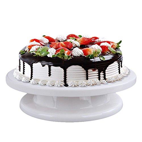 HuntGold Herramienta de Decoración de Pasteles giratoria soporte de tarta Sugarcraft Turntable Cupcake Plataforma