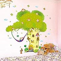 熱風バルーンウォールステッカーDIY動物の木子供部屋の壁画デカール赤ちゃんの寝室の家の装飾