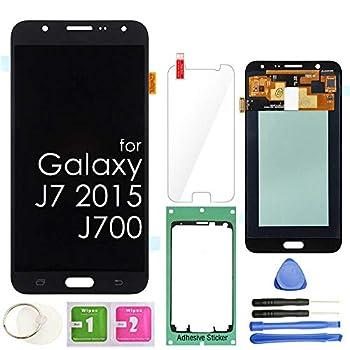 LCD Screen Replacement Touch Digitizer Display Assembly for Samsung Galaxy J7 2015 J700 J700T J700F J700F/DS J700H J700M SM-J700 Black