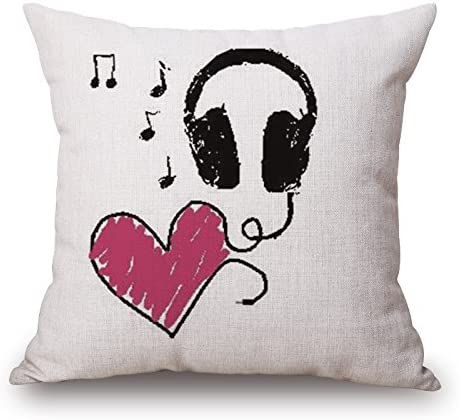 1 45 x 45 cm Elliot /_ Yew Fashion Simplestyle Music Shell Covers federa cuscino decorativo cotone lino 18/INCH18INCH