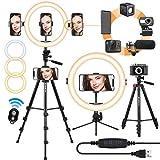 TARION LED Selfie Ringlicht Ringleuchte Licht Set 11 Zoll Blitzgeräte mit Stativ, Handyhalterung,...
