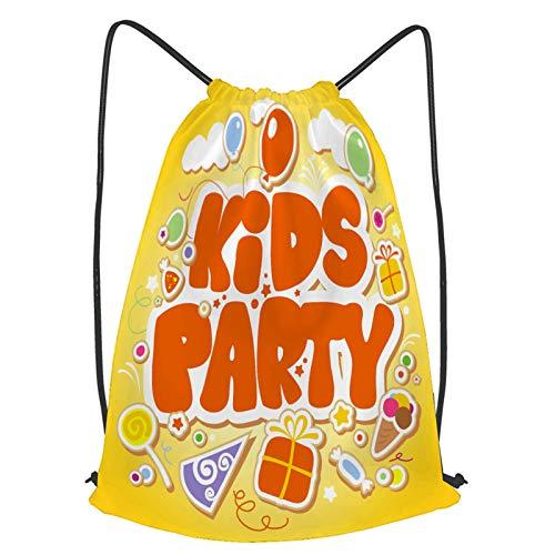 Impermeable Bolsa de Cuerdas Saco de Gimnasio plantilla de diseño de fiesta infantil Deporte Mochila para Playa Viaje Natación
