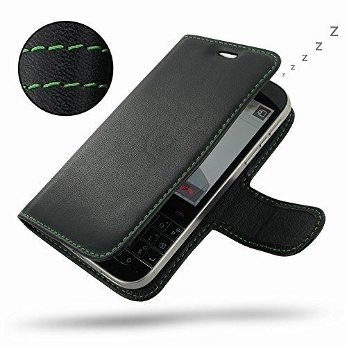PDair BlackBerry Classic Leder Flip Hülle (Grüner Stich), [Echt Weiches Leder] Schutzhülle Magnetverschluss Tasche   Prämie Deluxe Leder Buch Kasten für BlackBerry Classic