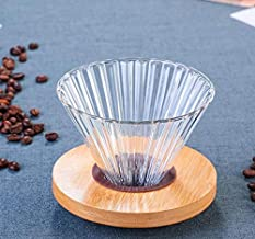V60 Glass Coffee Dripper, Size 02, Olive Wood