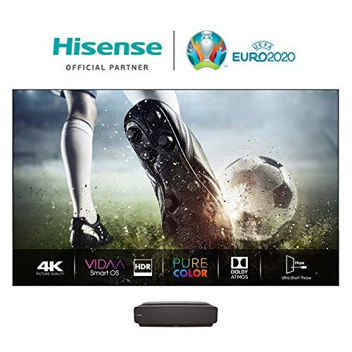 Hisense 100L5F-A12 Laser TV 100  con schermo Antiriflesso, Risoluzione 4K, HDR10, Smart TV VIDAA 4.0, Dolby Atmos, 2700 Lumen, Alexa Integrata, tivùsat 4K, Installazione Inclusa
