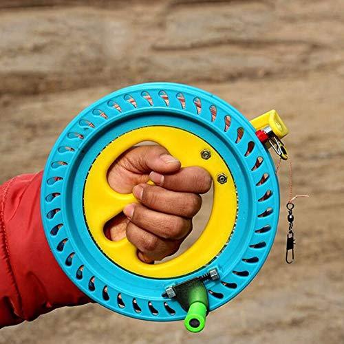XiaoOu Wickelrolle Griff Baby Toys Kite Rollenwickler Feuerrad 200M Schnur Fluggriff Werkzeug Schnur Linie Outdoor Round Blue Grip Drachen Zubehör, wie abgebildet