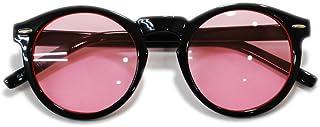 【全6色】 伊達メガネ サングラス ボストン ライトカラーレンズ 薄い色 伊達眼鏡 ダテメガネ 丸メガネ 丸めがね 丸眼鏡 メンズ レディース UVカット 丸型 アジアンフィット カラーレンズサングラス