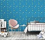 Cartoons Wallpaper Paper for Wall Modern Vinyl Wallpaper Peel & Stick Wallpaper Sky Meteor Planet Stitching Self-Adhesive Wallpaper Printing Paper Shelf Paper for Wall Decal,17.7'×236'