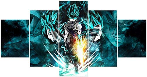 FUNHUA Dragon Ball Z Poster Japanese Anime Posters Unframed Canvas Wall Art for living Room product image