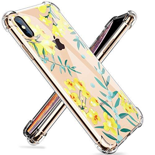 Fulidy Funda para iPhone XS, Clear Soft TPU Gel Silicona Cristal Transparente...