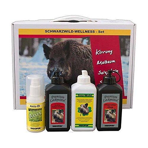 Schwarzwild wellness Set Atrayentes para jabalí de la marca Hagopur - Set de atrayentes naturales: Pherotar aceite de madera de haya, Sau-wohl atrayente con análogos de feromonas, atrayente co