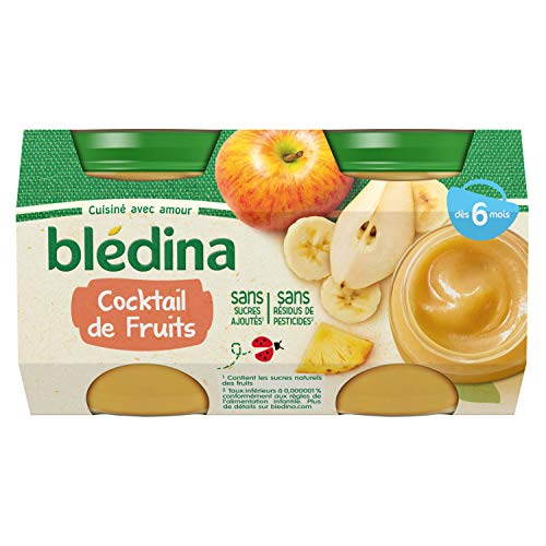 Blédina Pots Fruits Cocktail de Fruits dès 6 mois 4 x 130 g