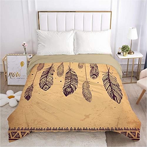 lhmlyl Matratze 1 Stück einzigartiges Muster Digitaldruck Bettbezug Bettwäsche-Bohemian 038-Camel-Q1_203 * 230 cm
