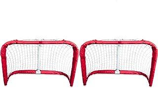Proguard Metal Hockey Goal Set   2 x 3 Foot Hockey Net for Street, Ice, Roller Hockey, and Indoor Games   Hockey Training ...