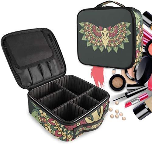 Cosmétique HZYDD Papillon Noir Bat Make Up Bag Trousse de Toilette Zipper Sacs de Maquillage Organisateur Poche for Compartiment Femmes Filles Gratuit