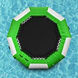 Popsport Inflatable Water Trampoline Series Splash Padded Water Bouncer Inflatable Bouncer Jump Water Trampoline Bounce Swim Platform for Water Sports (Green, 13Ft)