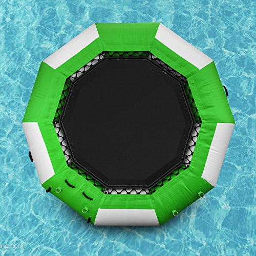 Popsport Inflatable Water Trampoline Series Splash Padded Water Bouncer Inflatable Bouncer Jump...