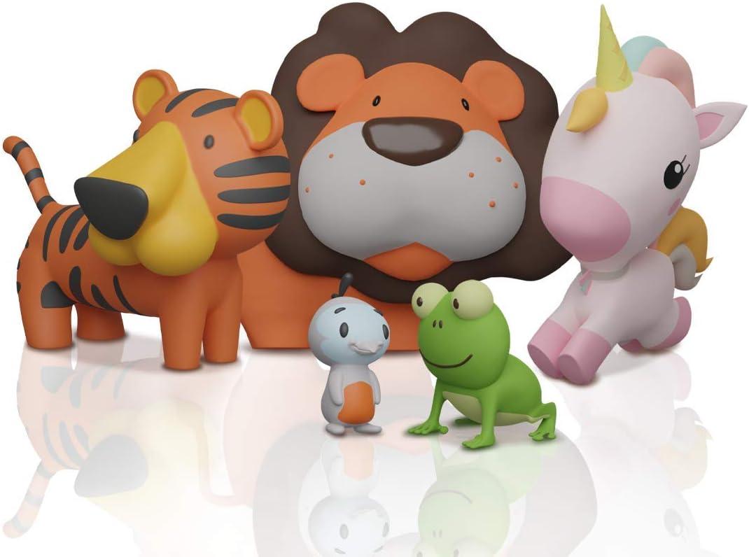 SplashEZ MoldFree Bath Toys for Babies 1M+ and Toddlers , 5 Pack Animal No Holes Bath Toys, Non Squirting Bath Toys for Tub,Beach,Pool, BPA-Free, Dishwasher-Safe, Infant Bathtub Toys