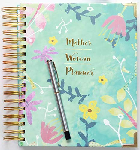 Mother Woman Planner- Mom Planner & Organizer 2020, Diary & Journal for Busy Parents; Undated Planner Daily/Weekly/Monthly Planning Pages 7.5' x 9.5'